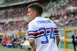September 17, 2017 - Turin, Piedmont, Italy - Lucas Sebastian Torreira (UC Sampdoria) during the Serie A football match between Torino FC and US Sampdoria at Olympic Grande Torino Stadium on 17 September, 2017 in Turin, Italy. (Credit Image: © Massimiliano Ferraro/NurPhoto via ZUMA Press)