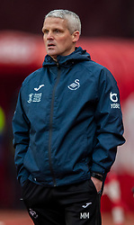 STOKE-ON-TRENT, ENGLAND - Saturday, January 25, 2020: Swansea City's coach Mike Marsh during the Football League Championship match between Stoke City FC and Swansea City FC at the Britannia Stadium. (Pic by David Rawcliffe/Propaganda)