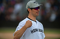 KELOWNA, CANADA - JUNE 28: NHL Montreal Canadiens goalie Carey Price stands on the field during the opening charity game of the Home Base Slo-Pitch Tournament fundraiser for the Kelowna General Hospital Foundation JoeAnna's House on June 28, 2019 at Elk's Stadium in Kelowna, British Columbia, Canada.  (Photo by Marissa Baecker/Shoot the Breeze)