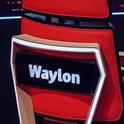 NLD/Hilversum/20190201- TVOH 2019 1e liveshow, stoel Waylon