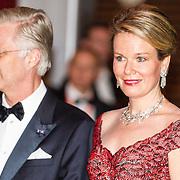 NLD/Amsterdam/20161129 - Staatsbezoek dag 2, contraprestatie Belgische koningspaar, Koning Filip en Koningin Mathilde