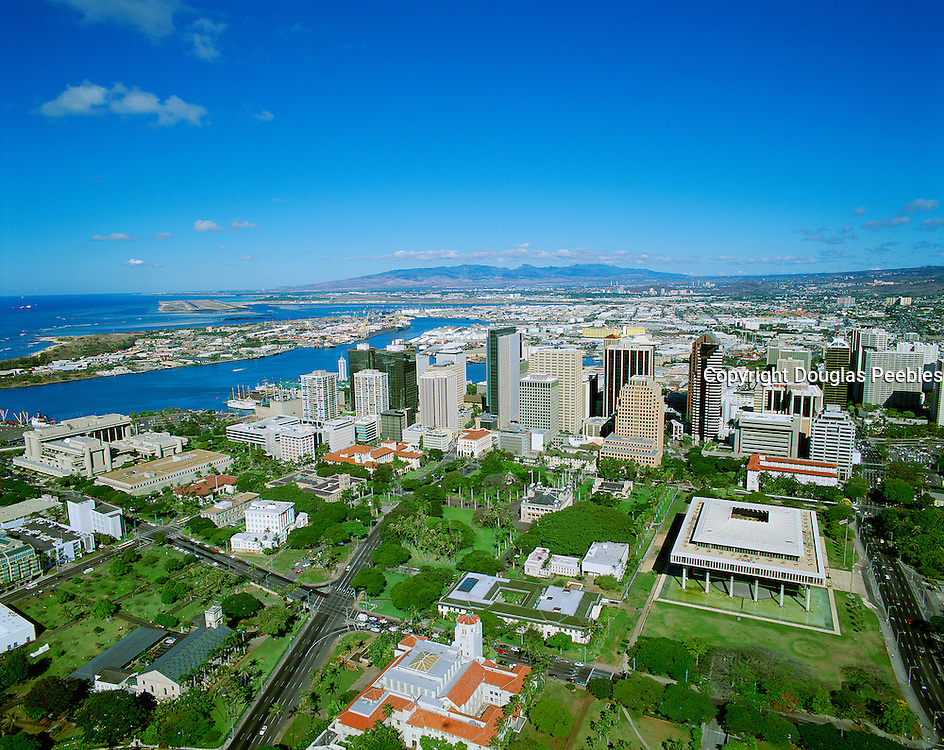 Downtown Honolulu, Oahu, Hawaii, USA<br />