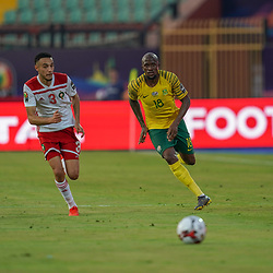 Noussair Mazraoui of Morocco  Sandile S'fiso Hlanti of South Africa during the African Cup of Nations match between South Africa and Morocco on July 1st, 2019. Photo : Ulrik Pedersen / Icon Sport
