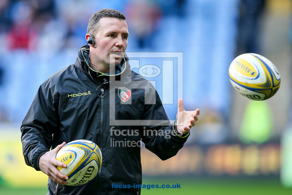 Leicester Tigers head coach Aaron Mauger during the Aviva Premiership match at the Ricoh Arena, Coventry<br /> Picture by Andy Kearns/Focus Images Ltd 0781 864 4264<br /> 08/01/2017