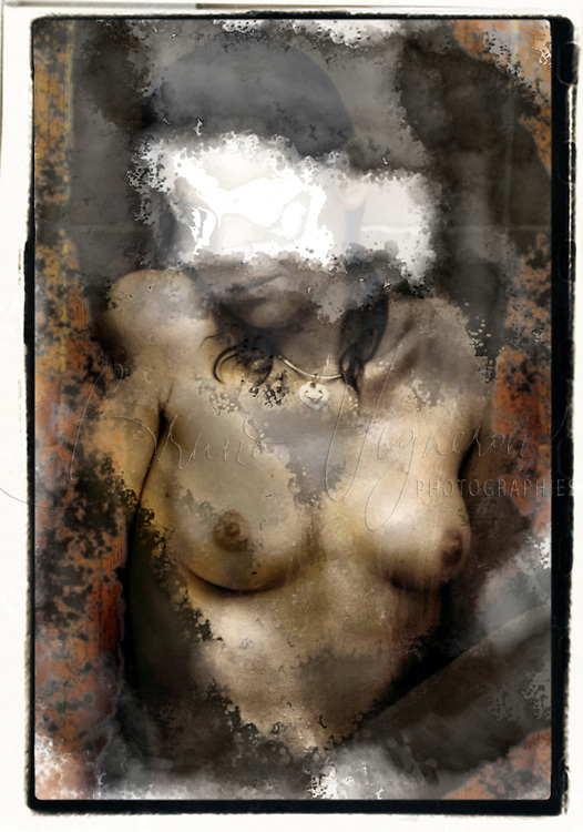 Young woman in baths