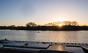 Caversham, Reading, Great Britain,   General View across the training lake,   GBRowing Training Session, at the National Training Base, Berkshire, England.<br />