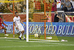 September 22, 2018 - Harrison, New Jersey, United States - Derrick Etienne Jr (7) of New York Red Bulls not pictured scores goal during regular MLS game against Toronto FC at Red Bull Arena Red Bulls won 2 - 0 (Credit Image: © Lev Radin/Pacific Press via ZUMA Wire)