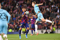 November 5, 2019, Barcelone, Espagne: FOOTBALL: FC Barcelone vs SK Slavia Praha - Champions League - 05/11/2019.Arturo Vidal, Tomas Soucek. (Credit Image: © Panoramic via ZUMA Press)