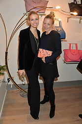 Left to right, SOFIA WELLESLEY and ASTRID HARBORD at a party hosted by Melissa Del Bono to celebrate the launch of her Meli Melo flagship store at 324 Portobello Road, London W10 on 28th November 2013.