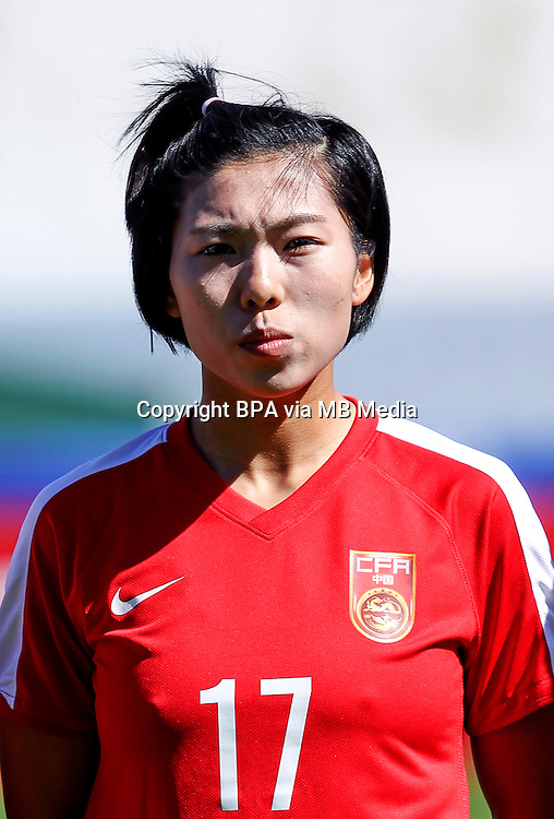 Fifa Womans World Cup Canada 2015 - Preview //<br /> Algarve Cup 2015 Tournament ( Vila Real San Antonio Sport Complex - Portugal ) - <br /> Germany vs China 2-0  -  Gu Yasha of China