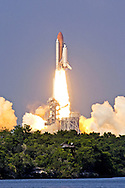 Space Shuttle Endeavour lifts off from launch pad 39-B at Kennedy Space Center on June 5, 2002. STS-111 is a rotation flight to relieve the crew on the International Space Station. The robotic arm of the ISS will also be replaced during the 12-day mission. The launch has been postponed several times. (Photo by Matt Stroshane / Getty Images)