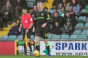 Forest Green Rovers Nathan McGinley(19) on the ball during the EFL Sky Bet League 2 match between Yeovil Town and Forest Green Rovers at Huish Park, Yeovil, England on 8 December 2018.