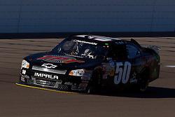 Mar 9, 2012; Las Vegas, NV, USA; Nationwide Series driver T.J. Bell (50) during practice for the Sam's Town 300 at Las Vegas Motor Speedway. Mandatory Credit: Jason O. Watson-US PRESSWIRE