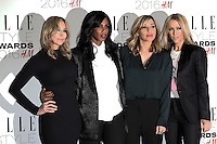 All Saints, Natalie Appleton, Shaznay Lewis, Melanie Blatt, Nicole Appleton, ELLE Style Awards 2016, Millbank London UK, 23 February 2016, Photo by Richard Goldschmidt