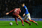 Ronan Curtis (11) of Portsmouth on the attack during the EFL Sky Bet League 1 match between Portsmouth and Ipswich Town at Fratton Park, Portsmouth, England on 21 December 2019.
