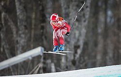 10.02.2014, Rosa Khutor Alpine Center, Krasnaya Polyana, RUS, Sochi 2014, Super-Kombination, Damen, Abfahrt, im Bild Dominique Gisin (SUI) // Dominique Gisin of Switzerland during the Downhill of the Women's Super Combined of the Olympic Winter Games 'Sochi 2014' at the Rosa Khutor Alpine Center in Krasnaya Polyana, Russia on 2014/02/10. EXPA Pictures © 2014, PhotoCredit: EXPA/ Johann Groder