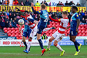 Own goal 3-1 from Jason McCarthy of Wycombe Wanderers during the EFL Sky Bet League 1 match between Doncaster Rovers and Wycombe Wanderers at the Keepmoat Stadium, Doncaster, England on 29 February 2020.