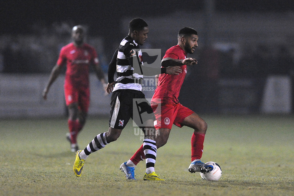 TELFORD COPYRIGHT MIKE SHERIDAN Ellis Deeney during the Vanarama Conference North fixture between Darlington and AFC Telford United at Blackwell Meadows on Saturday, November 30, 2019.<br /> <br /> Picture credit: Mike Sheridan/Ultrapress<br /> <br /> MS201920-032