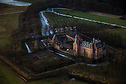 Nederland, Gelderland, Doorwerth 10-01-2011;.Kasteel Doorwerth, waterburcht aan de Neder-Rijn. The castle Doorwerth, at the border of the Lower-Rhine..luchtfoto (toeslag), aerial photo (additional fee required).foto/photo Siebe Swart