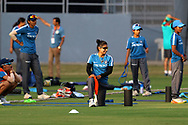 Mithali Raj captain of India warm up before the start of the second women's one day International ( ODI ) match between India and Australia held at the Reliance Cricket Stadium in Vadodara, India on the 15th March 2018<br /> <br /> Photo by Vipin Pawar / BCCI / SPORTZPICS