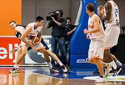 Sylvester Berg of Bakken Bears vs Simo Atanackovic #24 of Helios Suns during basketball match between KK Helios Suns (SLO) and Bakken Bears (DEN) in Round #4 of FIBA Champions League 2016/17, on November 8, 2016 in Sports Hall Domzale, Slovenia. Photo by Vid Ponikvar / Sportida