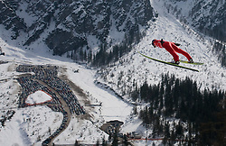 Ski jumper competes during Flying Hill Individual Qualifications at 1st day of FIS Ski Flying World Championships Planica 2010, on March 18, 2010, Planica, Slovenia.  (Photo by Vid Ponikvar / Sportida)