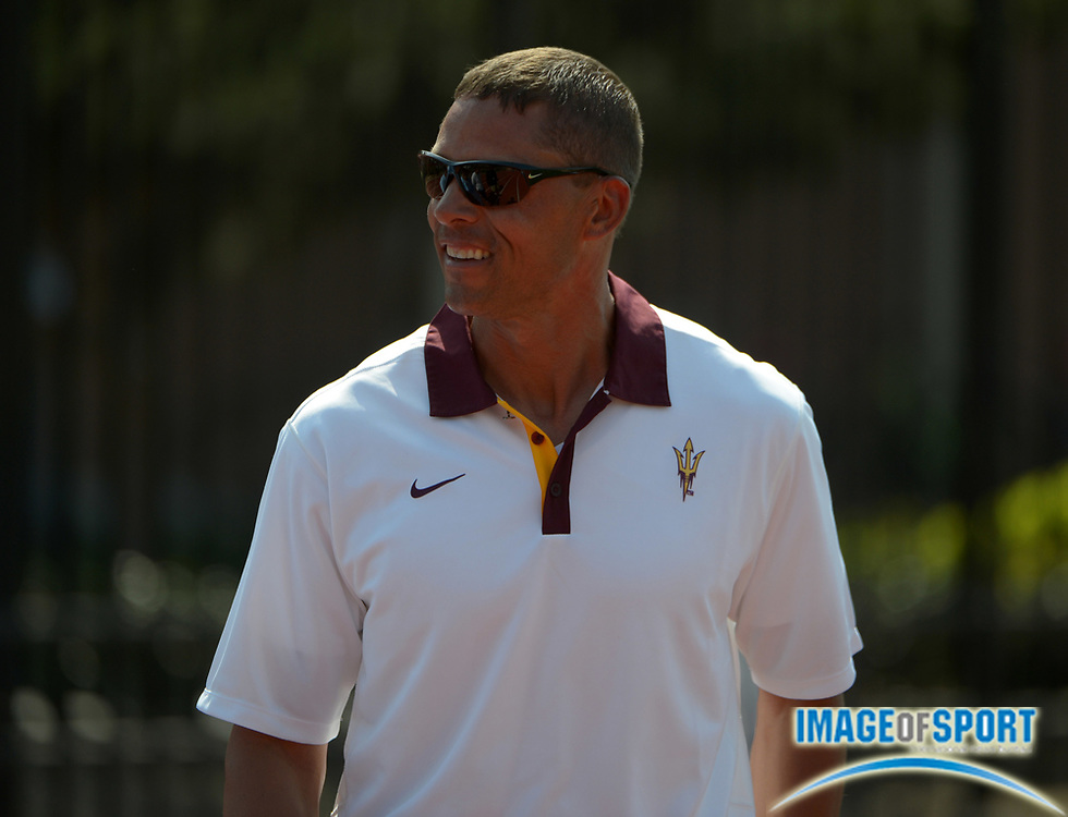 May 4, 2013; Los Angeles, CA, USA; Arizona State Sun Devils multi-events coach Dan O'Brien at the 2013 Pac-12 Championships at Cromwell Field.