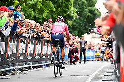 26.05.2019, Ivrea, Como, ITA, Giro d Italia 2019, 15. Etappe, Ivrea - Como (237 km), im Bild CARAPAZ Richard (ECU)(MOVISTAR TEAM) // CARAPAZ Richard (ECU)(MOVISTAR TEAM) during stage 15 of the 102nd Giro d'Italia cycling race from Ivrea to Como (237 km) Ivrea in Como, Italy on 2019/05/26. EXPA Pictures © 2019, PhotoCredit: EXPA/ laPresse/ Massimo Paolone<br /> <br /> *****ATTENTION - for AUT, SUI, CRO, SLO only*****