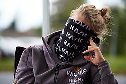 Julie Leth (DEN) hides from the wind at Ladies Tour of Norway 2018 Stage 1, a 127.7 km road race from Rakkestad to Mysen, Norway on August 17, 2018. Photo by Sean Robinson/velofocus.com