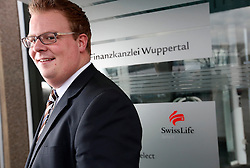 GERMANY WUPPERTAL 25FEB14 - Swiss Life insurance specialist Marcel Kersting photographed at his workplace in Wuppertal.<br /> <br /> jre/Photo by Jiri Rezac for Swiss Life Magazine<br /> <br /> © Jiri Rezac 2014