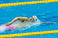 Ashgabat, Turkmenistan - 2017 September 24: Haiyang Qin from People's Republic of China competes in Men's 200m Freestyle Heat 4 Short Course Swimming competition during 2017 Ashgabat 5th Asian Indoor & Martial Arts Games at Aquatics Centre (AQC) at Ashgabat Olympic Complex on September 24, 2017 in Ashgabat, Turkmenistan.<br /> <br /> Photo by © Adam Nurkiewicz / Laurel Photo Services