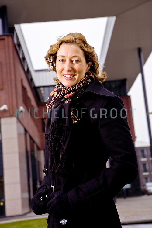 Claudia Fuss, lobbyist voor TLN (Transport en logistiek Nederland) in Zoetermeer, The Netherlands op 02 February, 2009.  (Photo by Michel de Groot)