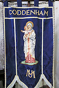 Mothers' Union banner, Church of Saint Mary, Coddenham, Suffolk, England, UK