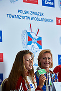 Warsaw, Poland - 2017 October 03: Maria Wierzbowska (RTW LOTTO Bydgostia) Polish rower W4- speaks during press conference of Polish Rowing National Team at Chopin Airport on October 03, 2017 in Warsaw, Poland.<br /> <br /> Mandatory credit:<br /> Photo by &copy; Adam Nurkiewicz / Mediasport<br /> <br /> Adam Nurkiewicz declares that he has no rights to the image of people at the photographs of his authorship.<br /> <br /> Picture also available in RAW (NEF) or TIFF format on special request.<br /> <br /> Any editorial, commercial or promotional use requires written permission from the author of image.