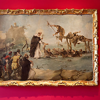 Il Miracolo del Beato Gonzalo D'Amarante seen at the Press Preview at Museo Correr of the Guardi Exhibition From September 29th 2012 to January 6th 2013.In the third centenary of the birth of Francesco Guardi, the last great landscape artist of the 18th century, the monographic exhibition promoted by the Fondazione dei Musei Civici di Venezia aims to highlight his complex artistic production, from the lesser-known figure paintings of his youth to the 'interior scenes', concluding with the splendid views of Venice and his fabulous capriccios, painted in his maturity and old age.