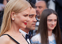 Nicole Kidman,  Colin Farrell and Raffey Cassidy at The Killing of a Sacred Deer gala screening at the 70th Cannes Film Festival Monday 22nd May 2017, Cannes, France. Photo credit: Doreen Kennedy