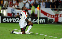 STADIO  DA LUZ  LISBON PORTUGAL 24/06/04  ENGLAND V PORTUGAL  EURO 2004<br /> DARIUS VASSELL  MISSES PENALTY FOR ENGLAND<br /> (Photo Roger Parker Digitalsport
