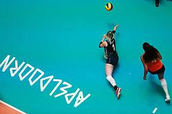 20180529 NED: Volleyball Nations League Netherlands - Poland, Apeldoorn<br />Kirsten Knip (1) of The Netherlands, Celeste Plak (4) of The Netherlands <br />©2018-FotoHoogendoorn.nl