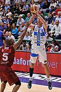 DESCRIZIONE : Campionato 2014/15 Dinamo Banco di Sardegna Sassari - Umana Reyer Venezia<br /> GIOCATORE : Giacomo Devecchi<br /> CATEGORIA : Tiro Tre Punti Three Points<br /> SQUADRA : Dinamo Banco di Sardegna Sassari<br /> EVENTO : LegaBasket Serie A Beko 2014/2015<br /> GARA : Dinamo Banco di Sardegna Sassari - Umana Reyer Venezia<br /> DATA : 03/05/2015<br /> SPORT : Pallacanestro <br /> AUTORE : Agenzia Ciamillo-Castoria/L.Canu