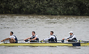 Hammersmith, Greater Game, London, UK. ISIS I, Elite 4-competing in the 2015 Fours Head of the River Race, River Thames [ opposite Chiswick Eyot]  Saturday  07/11/2015 <br /> <br /> [Mandatory Credit: Peter SPURRIER: Intersport Images]