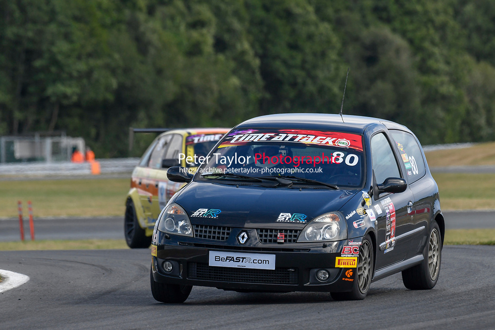 #80 Aaron ADAMS Renault Clio  during 2018 MSA Time Attack Championship - FastR Clubman / Pocket Rocket / Classic & Retro  as part of the Time Attack - Round 4 - Oulton Park  at Oulton Park, Little Budworth, Cheshire, United Kingdom. July 28 2018. World Copyright Peter Taylor/PSP. Copy of publication required for printed pictures.