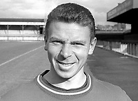 Sammy Hatton, footballer, Linfield FC, Belfast, N Ireland, September, 1967, 196709000169<br /> <br /> Copyright Image from Victor Patterson, 54 Dorchester Park, Belfast, UK, BT9 6RJ<br /> <br /> t: +44 28 9066 1296<br /> m: +44 7802 353836<br /> vm +44 20 8816 7153<br /> <br /> e1: victorpatterson@me.com<br /> e2: victorpatterson@gmail.com<br /> <br /> www.victorpatterson.com<br /> <br /> IMPORTANT: Please see my Terms and Conditions of Use at www.victorpatterson.com