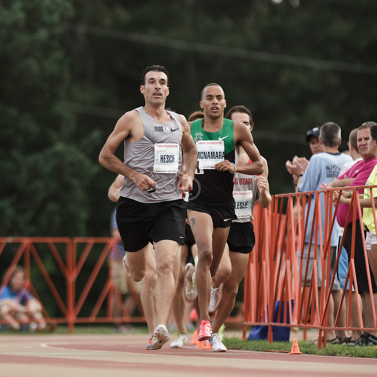 Falmouth Road Race: Falmouth Elite Mile race, Christian Hesch rabbits