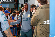 Leeds United forward Edward Nketiah (14), on loan from Arsenal, arriving during the EFL Cup match between Leeds United and Stoke City at Elland Road, Leeds, England on 27 August 2019.