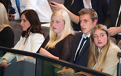 © London News Pictures. 04/05/2012. London, UK. MARINA JOHNSON, wife of BORIS JOHNSON and her children watch BORIS JOHNSON speak  after being elected as Mayor of London at London City Hall on May 4, 2012. Johnson, a British Conservative Party politician, defeated Ken Livingstone to become mayor of London for a second term. Photo credit: Ben Cawthra/LNP