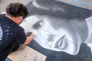 Artists work on their pieces during the Pasadena Chalk Festival on Paseo Colorado in Pasadena, California, June 18, 2017. (Photo by Ringo Chiu)<br /> <br /> Usage Notes: This content is intended for editorial use only. For other uses, additional clearances may be required.