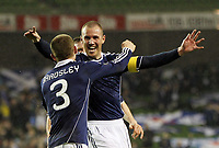 Football - Carling Nations Cup - Scotland v Northern Ireland<br /> Kenny Miller goal celebrations during the Scotland v Northern Ireland Carling Nations Cup at The Aviva Stadium