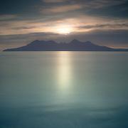 Isle of Rum from Laig bay, Isle of Eigg.<br /> 2015