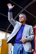 Roma 11 Maggio  2013.La Cosa Giusta,  Manifestazione di Sinistra Ecologia e Libertà. Nichi Vendola,  Presidente nazionale di Sinistra Ecologia Libertà, è presidente della Regione Puglia