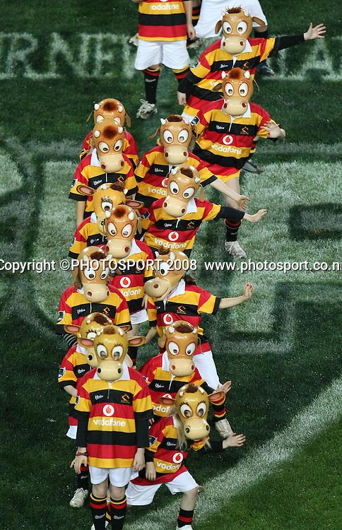 Pre match entertainment mooloo kids. Air NZ Cup, Waikato v Auckland, Waikato Stadium, Hamilton, Saturday 30 August 2008. Waikato won 34-13. Photo: Stephen Barker/PHOTOSPORT
